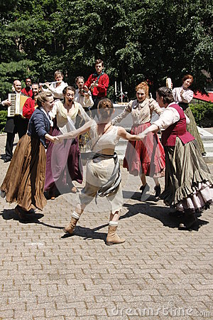 Actors playing Shakespeare Editorial Photo