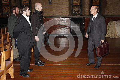 Actors playing Shakespeare Editorial Stock Photo