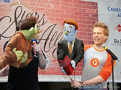 Actors and puppets from Avenue Q. Editorial Image