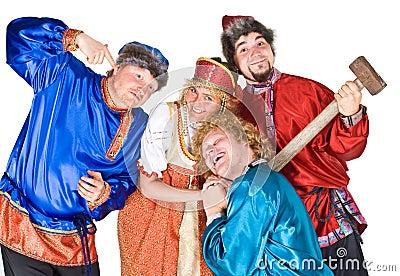 Actors in Russian folklore