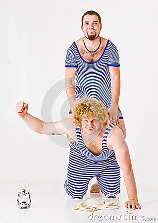 Actors in Sailor Costumes