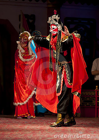 Actors of the Sichuan Opera Troup Editorial Stock Photo