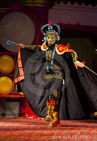 Actors of the Sichuan Opera Troupe Editorial Stock Photo