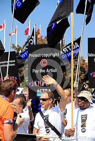 ACTRA Toronto Union Members Editorial Photo