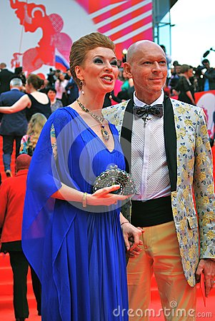 Actress Amalia Amalia at XXXVI Moscow International Film Festival Editorial Stock Image