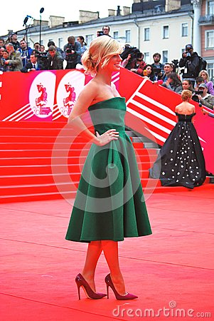 Actress Anastasiya Zadorozhnaya at XXXVI Moscow International Film Festival Editorial Image