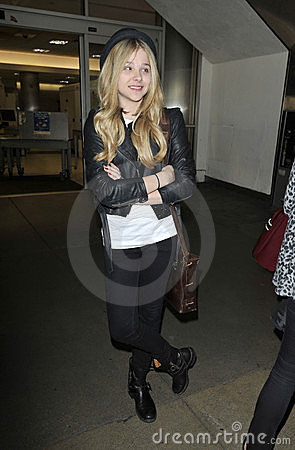 Actress Chloe Moretz at LAX airport Editorial Stock Image