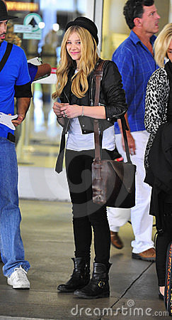 Actress Chloe Moritz at LAX airport Editorial Photo