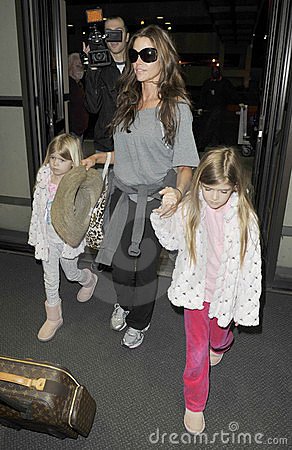 Actress Denise Richards ex of Charlie Sheen at LAX Editorial Photo