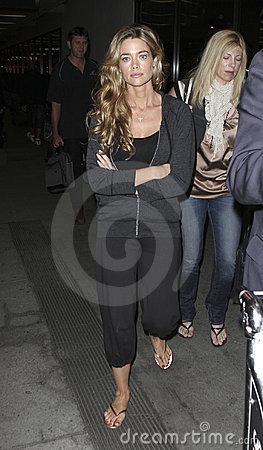 Actress Denise Richards at LAX . Editorial Stock Photo
