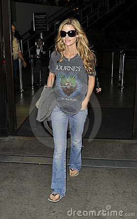 Actress Denise Richards is seen at LAX Editorial Image