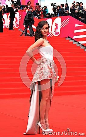 Actress Ekaterina Shpitsa at XXXVI Moscow International Film Festival Editorial Stock Image