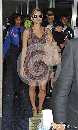 Actress Eva Mendes at LAX Editorial Stock Photo