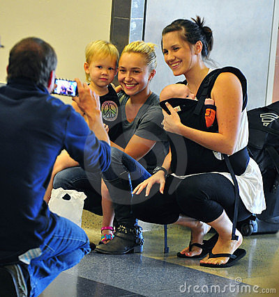 Actress Hayden Panettiere at LAX airport Editorial Photography