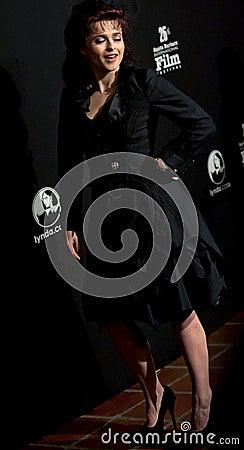 Actress helena bonham carter on the red carpet Editorial Stock Photo