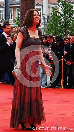 Actress Irina Lachina at XXXVI Moscow International Film Festival Editorial Photography