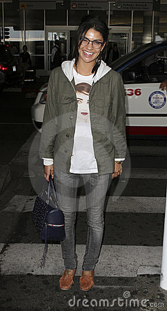 Actress Jessica Szohr is seen at LAX Editorial Photography