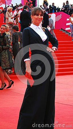 Actress Julia Beretta at XXXVI Moscow International Film Festival Editorial Stock Photo