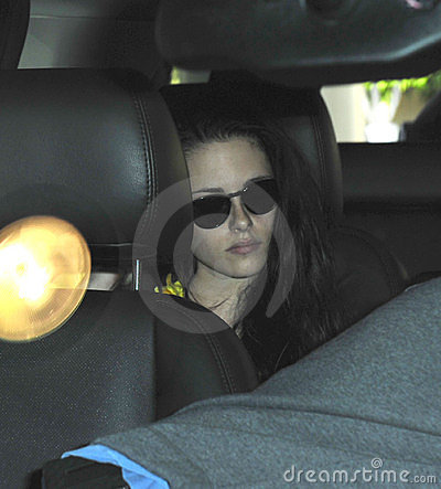 Actress Kristen Stewart at LAX airport Editorial Stock Photo