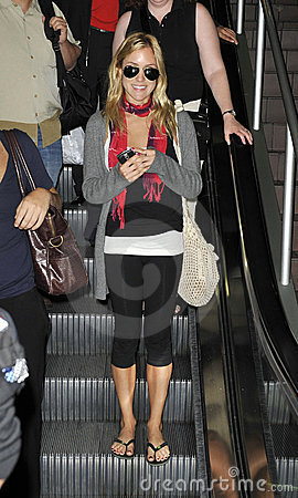 Actress Kristin Cavallari is seen at LAX Editorial Stock Photo