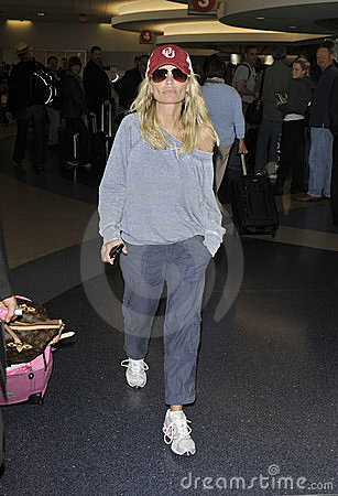 Actress Kristin Chenoweth at LAX airport Editorial Image