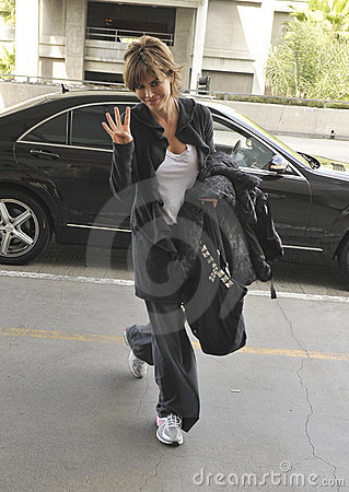 Actress Lisa Rinna is seen at LAX Editorial Stock Photo
