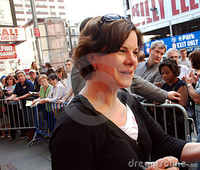 Actress Marcia Gay Harden on Broadway Editorial Stock Image