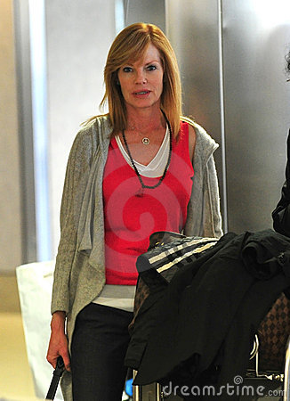 Actress Marg Helgenberger at LAX airport Editorial Photography