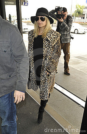Actress Nicole Richie at LAX airport Editorial Stock Photo