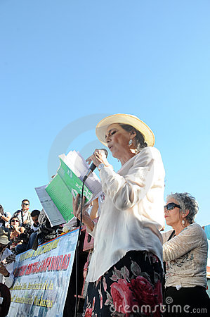 Free Actress Ofelia Medina Speaks During Protest Stock Photos - 24271233