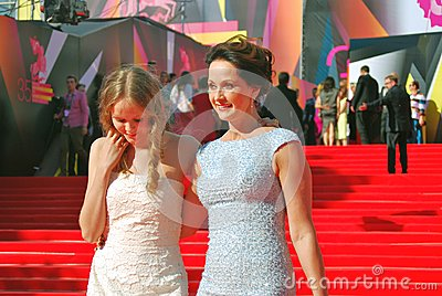 Actress Olga Kabo at Moscow Film Festival Editorial Photography