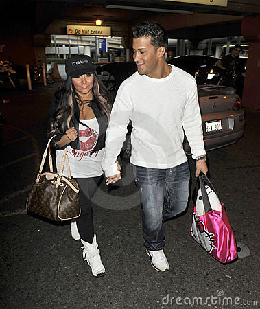 Actress Snooki from Jershey Shore at LAX Editorial Stock Image