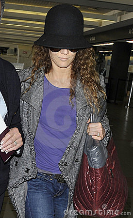 Actress Vanessa Paradis wife of Johnny Depp at LAX Editorial Photo