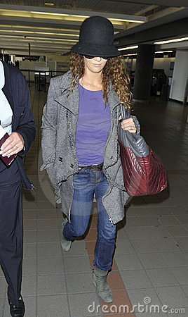 Actress Vanessa Paradis wife of Johnny Depp at LAX Editorial Photography