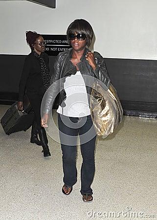 Actress Viola Davis  at LAX airport. Editorial Image