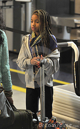 Actress Willow Smith daughter of Will Smith at LAX Editorial Stock Image