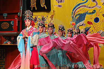 Actresses of the Beijing Opera Troupe Editorial Photo