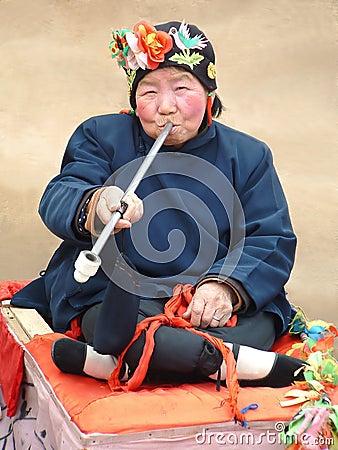 Actriz china de la aldea