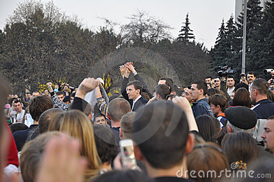 Actual Mayor of Chisinau, Dorin Chirtoaca Editorial Stock Image