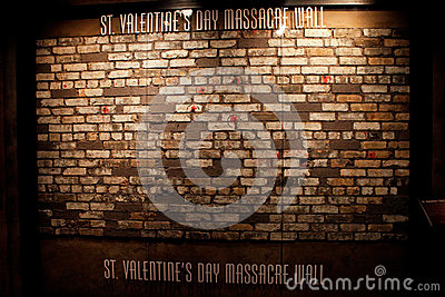 Actual St. Valentine s Day Massacre Wall Editorial Photo