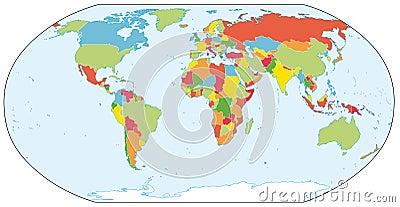 Actual world political map