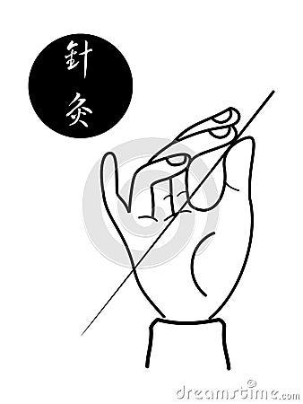 Acupunctura da ciência médica de chinês tradicional