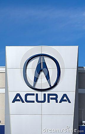 acura automobile dealership sign and logo editorial stock image image 56583124. Black Bedroom Furniture Sets. Home Design Ideas
