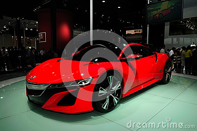 Acura  Cost on Acura Nsx Concept Car Stock Image   Image  28060531