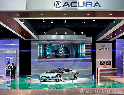 Acura  Cost on Acura Nsx Concept Display Stock Images   Image  22822334