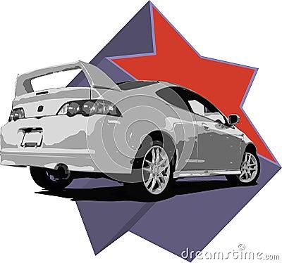 Acura RSX Illustration