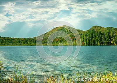 Łańcuszkowi Fulton jeziora, adirondack stan park