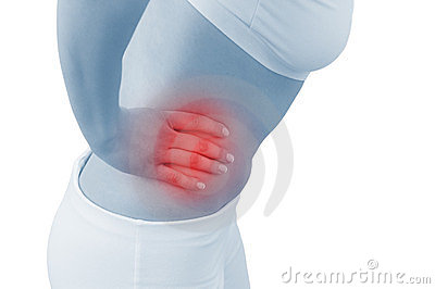 Acute pain in a woman abdomen