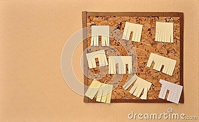 Ad wall paper cutout