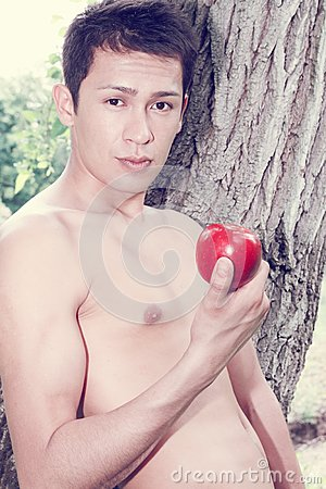 Adam with the apple, tinted